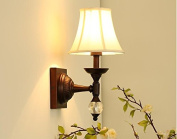 Wall lights Retro American Country Wall Lamp Creative Living Room Bedroom Bedside Lamp Creative Personality Wall Lamp Wall hanging lights