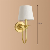 POPA Wall lamp American Style Full Copper Bedside Wall Light Mirror Front Lamp Bedroom Study Room Living Room Single Head Wall Light