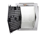 Ruff Tough Kennels Intermediate Double Door Side Entry Kennel, Crate, Dog House, (L-80cm , W-50cm , H-60cm )
