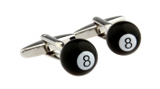 Covink® Eight 8 Ball Pool Cufflinks Billiard Cuff Men's French Shirt for Pool Brilliard Games Fans with Gift Bag