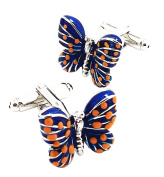 Covink® Lady's Blue Butterfly Cufflinks For Casual French Shirt Girlfriend's Presents