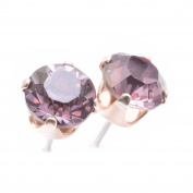 Rose Gold stud earrings expertly made with Antique Rose crystal from ®.