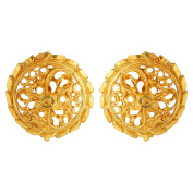 Pretty Ethnic Gold Plated South Indian Ear Stud Bollywood Style Ethnic Studs India By GoldNera