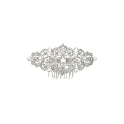 SHMILY Rhinestone Hair Comb Alice Band Hair Accessory Wedding Bridal Jewellery Silver New HS1003