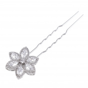 SELOVO High Quality Zircon Crystal Flower Hair Pins for Bride Bridal Hair Accessories
