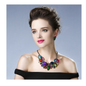 Hamer Costume jewellery Crystal Choker Pendant Statement Collar Charm Necklace and Earrings Sets Women