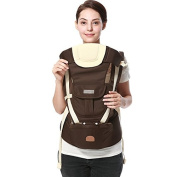 ThreeH Baby Carrier Ergonomic Hipseat 3 Carry Positions For Newborns BC01,Brown