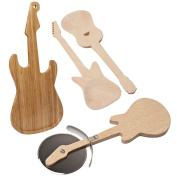 Guitar Chopping Board Pizza Salad Servers Kitchen Utensils Kitchen Rock Star
