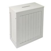 Woodluv White Shaker Slimline Wooden Multi-purpose Bathroom Storage Unit. Huge S