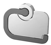 Bisk 15 X 11.9 X 1.8 Cm Ventura Toilet Roll Holder With Cover, Chrome And Grey