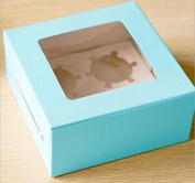 10 X Blue Cupcake Boxes Holds 4 Cakes