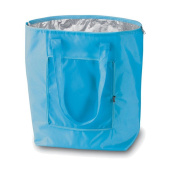 Large Cool Bag Which Folds Down For Easy Carrying! Foldable Cooler Bag Blue