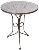 Esschert Design Ac91 70 X 60 X 60cm Ceramic Round Table - Blue