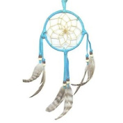 10cm Turquoise Blue Traditional Navajo Dream Catcher - Handmade By American