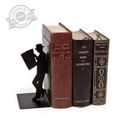 Balvi - The Reader Decorative Metal Bookend In Black Colour. Original Design