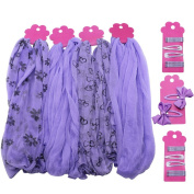 COM-FOUR ® 42 Piece Children's Hair Accessories Set in Purple