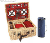 Greenfield Collection Blenheim Willow Picnic Hamper For Four People With...