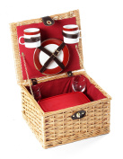 Luxury Willow Picnic Hamper For Two People, Picnic, Picnic Hamper, Wicker H