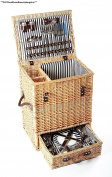 Greenfield Collection Carlton Willow Picnic Hamper For Four People
