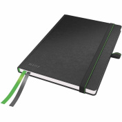 Leitz A5 Complete Hard Cover Ruled Notebook - Black