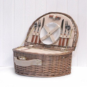 Luxury 2 Person Chiller Picnic Basket In Our 'westbury' Style With Dining - For