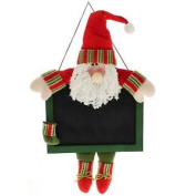 Hanging Father Christmas Santa Claus Chalkboard For Messages / Reminders - 33cm