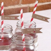 Straw Flags X30 Wedding Tableware Just My Type