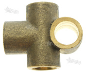 10mm M10 Brass Tee Piece Brake Clutch Line Pipe T 3 Way Female Connector