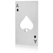 Ace Of Spades Poker Casino Playing Card Stainless Steel Bottle Opener