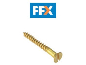Forgefix Csk13410br Wood Screw Slotted Csk Solid Brass 1.3/4 X 10 X 200