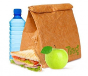 Large Reusable Brown Paper Lunch Bag For Men, Women, Kids - Insulated Cooler