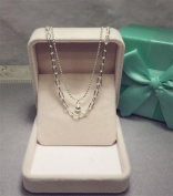 XX Silver Necklace Female Double Necklace , 925 Silver,925 silver