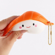 JoyJay Soft Squishy Sushi Scented Super Slow Rising Kids Toy Strap Squishy Bread Toys Slow Rising Party Favours