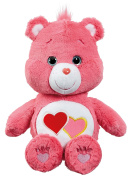 Care Bears Love-A-Lot Bear Medium Plush with DVD