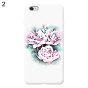 For iPhone 5/5S/SE Case, Flower Pattern Flip Soft TPU + Hard PC Full Coverage Phone Case Cover For Apple iPhone for Samsung - White for iPhone 5/5S/SE