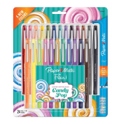 Paper Mate Flair Felt Tip Pens, Medium Point (0.7mm), Limited Edition Candy Pop Pack, 24 Count