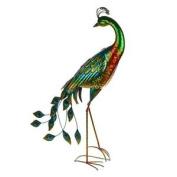 Majestic Metal Peacock Garden Ornament.