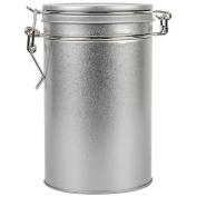 850ml Silver Round Clip Lid Tin Waterproof Storage