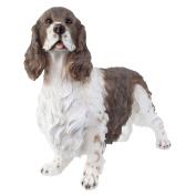 Large Realistic Brown & White Springer Spaniel Polyresin Dog Garden Ornament