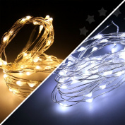 Battery Operated 50led Silver Wire String Lights 5m Xmas Fairy Party