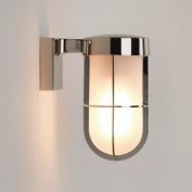 Astro Cabin Ip44 Outdoor External Wall Lantern Light Frosted 60w E27 Nickel