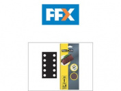 Flexovit Flv26500 1/2 Sanding Sheets 115mm X 280mm Perforated Fine 120g X 10