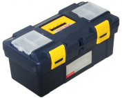 New 46cm Plastic Tool Box With Handle Tray & Compartment Storage