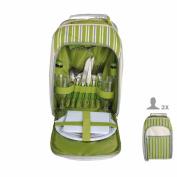 B#esschert Design Picnic Cooler Bag 2 Person Stripes El054 26.2x15.4x33.5