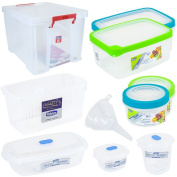 Food Storage Box Plastic Clear Container Tubs Microwave Seal Small Or Large