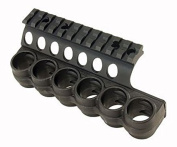 Mesa Tactical SureShell Polymer Carrier and Rail for Moss 500/590, 12-GA, Black, 6-Shell, 12cm ,