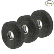 Renfrew 3 Pack Black FRICTION Hockey Stick Blade Shaft 2 Sided Tape - 1.9cm Wide