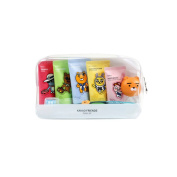 KAKAO Friends Convenience Travel Kit 7 Piece Shampoo,Conditioner,Body Wash,Cleansing Foam,Tooth Paste,Tooth Brush, Tooth Brush Cap Tube Type