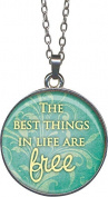 Angelstar 13716 The Best Things Vintage Wisdom Pendant, 3.2cm
