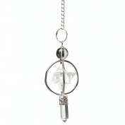 Find Something Different Crystal Merkaba Cage Point Pendulum in Velvet Pouch